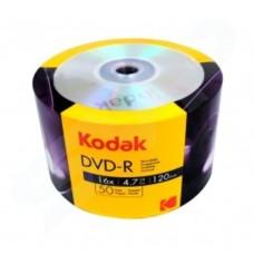 Kodak 16x DVD-R Branded 50 pack, Shrink wrapped - 1410150