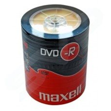 Maxell 16x Branded DVD-R 4.7GB Pack of 100 - Shrink-wrap