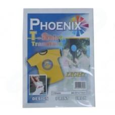 Phoenix A4 Paper T Shirt Transfer Material - Light 10 Sheets
