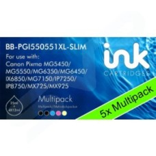 5x Blue Box Canon PGI550XLPGBK/CLI551XL BCMY Multipack