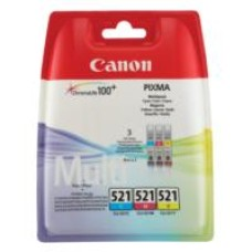 Canon CLI-521 Cyan Magenta and Yellow Ink Cartridges