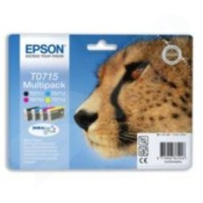 Epson T0715 Multi 4 Pack DURABrite Ultra Ink (Black/Cyan/Magenta/Yellow)