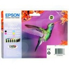 Epson T0807 Claria Ink Cartridge Multi 6 Pack for Stylus Photo R265/R285/R360/RX560/RX585/RX685