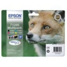 Epson T1285 4 Colour Multipack Ink Cartridges Black Cyan Magenta Yellow (Retail Packed Untagged) for BX305F/S22/SX125/SX420W/SX425W