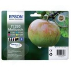 Epson T1295 4 Colour Multipack Ink Cartridges Black Cyan Magenta Yellow (Retail Packed Untagged) for BX305F/BX320FW/BX525WD/BX625FWD/SX420W