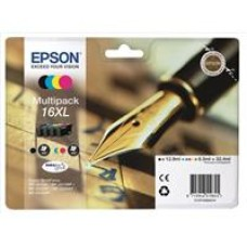Epson Pen and Crossword 16XL (non-Tagged) Multipack 4 Colour Cartridges (Black/Cyan/Magenta/Yellow) for Epson WorkForce WF-2010DW/WF-2510WF/WF-2520WF/WF-2530WF/WF-2540WF