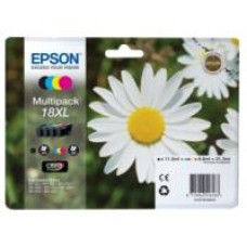Epson Daisy 18XL Series T1816 Multi Pack 4 Colour Ink Cartridges (Black/Cyan/Magenta/Yellow) for Expression Home XP-102 Inkjet Printer