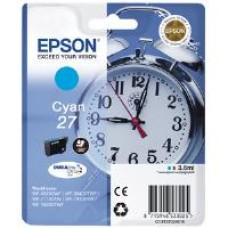 Epson Alarm Clock 27 DURABrite Ultra Ink Cartridge (Cyan) Blister for WorkForce WF-3620DWF/WF-7610DWF/WF-3640DTWF/WF-7620DTWF/WF-7110DTW Printers