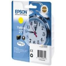 Epson Alarm Clock 27 DURABrite Ultra Ink Cartridge (Yellow) Blister for WorkForce WF-3620DWF/WF-7610DWF/WF-3640DTWF/WF-7620DTWF/WF-7110DTW Printers
