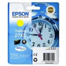 Epson Alarm Clock 27XL DURABrite Ultra Ink Cartridge (Yellow) Blister for WorkForce WF-3620DWF/WF-7610DWF/WF-3640DTWF/WF-7620DTWF/WF-7110DTW Printers