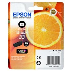Epson Oranges 33 (4.5 ml) Claria Premium Photo Black Ink Cartridge for Expression Premium XP-530/XP-630/XP-635/XP-830 Printers