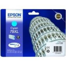 Epson 79XL Cyan DURABrite Ultra Ink Cartridge (17.1 ml) Single Pack for WorkForce Pro WF-4630DWF/WF-5190DW/WF-4640DTWF/WF-5620DWF/WF-5110DW/WF-5690DWF Inkjet Printers