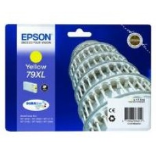 Epson 79XL Yellow DURABrite Ultra Ink Cartridge (17.1 ml) Single Pack for WorkForce Pro WF-4630DWF/WF-5190DW/WF-4640DTWF/WF-5620DWF/WF-5110DW/WF-5690DWF Inkjet Printers