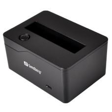 "Sandberg Hard Drive Docking Station Single Slot 2.5"" SATA USB 3.0 LED Black"
