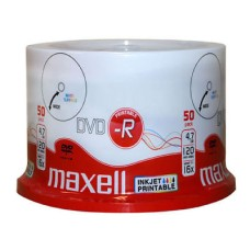 Maxell 16x DVD-R Printable White 4.7GB 120Min 50 pack Spindle | 275701