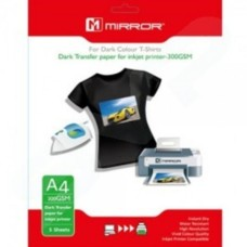 Mirror Dark T-shirt Transfer paper for inkjet printer A4 5 sheets
