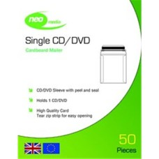 NEO Card Mailer for Single CD/DVD With Peel And Seal 50 Pack