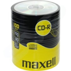 Maxell CD-R 52x Branded 700MB 80 Min 100 Pack Shrink Wrap