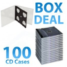 100 x Double Jewel Case with Black Inlay Tray (10.4mm)