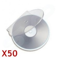 50x Unbranded Slim Profile C-Shell Clear Disc Storage Case
