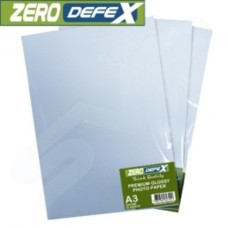 Zero Defex 180gsm Double Sided A3 Professional Inkjet Glossy Photo Paper - 20 Pack