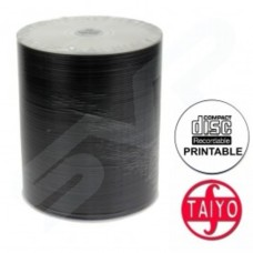 Taiyo Yuden Professional 52x White Full Face Printable CD-R in Packs of 100