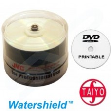 Taiyo Yuden Professional 16x Full Face Watershield Printable Blank DVD-R Tub of 50