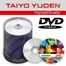 JVC Taiyo Yuden 16x Prism Shiny Silver Thermal Transfer DVD+R Pack of 100 Tub