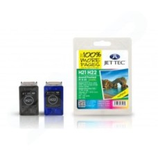 JETTEC Remanufactured HP 21 + 22 Inkjet Cartridges