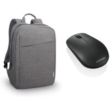 LENOVO B210 Casual 15.6in Laptop Backpack & 400 Wireless Mouse Bundle