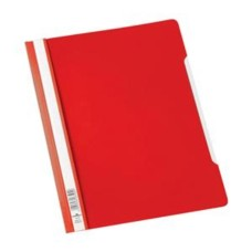 Durable Clear View (A4) Plastic Folder (Red) 1 x Pack of 50 Folders