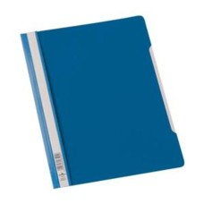 Durable Clear View (A4) Plastic Folder Plastic (Blue) - 1 x Pack of 50 Folders