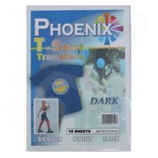 Phoenix A4 Paper T Shirt Transfer Material - Dark 10 Sheets