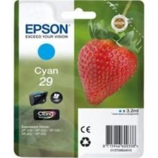 Epson 29 (T29824010) Cyan Original Claria Home Standard Capacity Ink Cartridge (Strawberry)