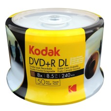 Kodak 8x DVD+R Full Face Printable DL  Disks 8.5GB - 50 Discs