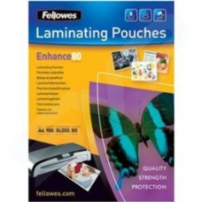 Fellowes (A5) Glossy 80 Micron Laminating Pouch (100 Pack)