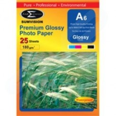 Sumvision 180GSM Glossy A6 Photo Paper 25 Pack