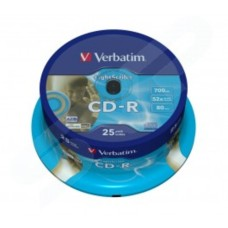 Verbatim 52x Azo Wide Printable CD-R in Packs of 25 43439