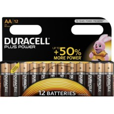 DURACELL Plus Power AA Alkaline Batteries - Pack of 12