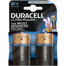 Duracell Ultra Batteries Size D LR20  MX1300 1.5V Pack of 2