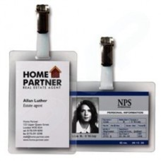 3L Identity Tags Self-adhesive Polyproylene Pre-punched with Clips Water-Resistant (Pack of 10)