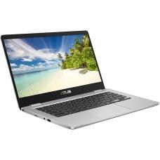 ASUS C423 14in Silver Chromebook - Intel Celeron N3350 4GB RAM 64GB eMMC - Chrome OS