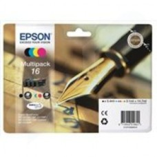 Epson T1626 Multi Pack 4 Colour Cartridges (Black/Cyan/Magenta/Yellow) Non Tagged