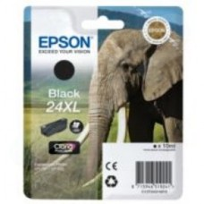 Epson Elephant 24XL (non-Tagged) High Capacity (Yield 500 Pages) Ink Cartridge (Black) for Epson Expression Photo: XP-750 / XP-850