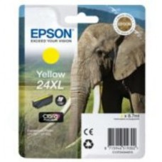Epson Elephant 24XL (non-Tagged) High Capacity (Yield 740 Pages) Ink Cartridge (Yellow) for Epson Expression Photo: XP-750 / XP-850