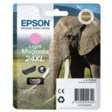 Epson Elephant 24XL (non-Tagged) High Capacity (Yield 740 Pages) Ink Cartridge (Light Magenta) for Epson Expression Photo: XP-750 / XP-850