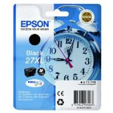 Epson Alarm Clock 27XL DURABrite Ultra Ink Cartridge (Black) Blister for WorkForce WF-3620DWF/WF-7610DWF/WF-3640DTWF/WF-7620DTWF/WF-7110DTW Printers