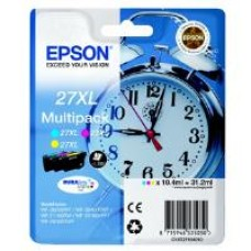 Epson Alarm Clock 27XL DURABrite Ultra Multipack Ink Cartridge (Cyan/Magenta/Yellow) Blister for WorkForce WF-3620DWF/WF-7610DWF/WF-3640DTWF/WF-7620DTWF/WF-7110DTW Printers