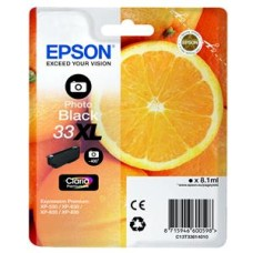Epson Oranges 33XL (8.1 ml) Claria Premium Photo Black Ink Cartridge for Expression Premium XP-530/XP-630/XP-635/XP-830 Printers