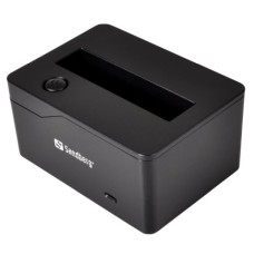 "Sandberg Hard Drive Docking Station Single Slot 2.5"" SATA USB 3.0 LED Black"